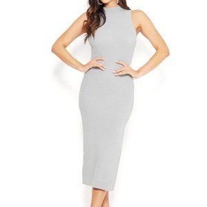 H&M Ribbed Mock Neck Midi Dress